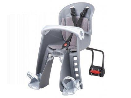 Dětská sedačka POLISPORT Bilby Junior přední (zadní uchycení) - šedo-stříbrná