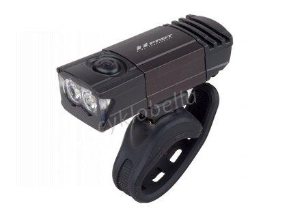 Světlo přední PRO-T Plus 2 x 0.5 Watt LED diody nabíjecí přes USB kabel 7045