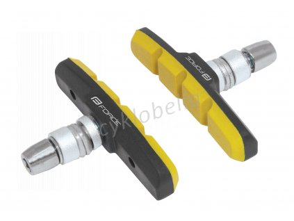 gumičky brzd F jednorázové, černo-žluté 70mm
