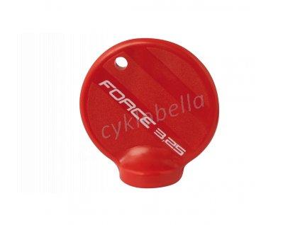 centrklíč FORCE, plastový, červený,na nipl 3,25 mm
