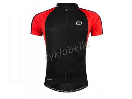 dres FORCE T10 krátký rukáv, černo-červený XS