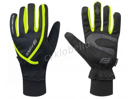 rukavice zimní FORCE ULTRA TECH, fluo L
