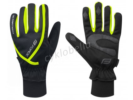 rukavice zimní FORCE ULTRA TECH, fluo XL