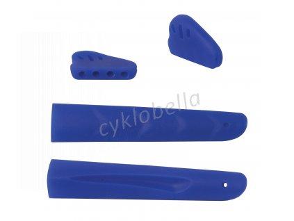 nosníky a gumičky nožiček brýlí, balené, modré