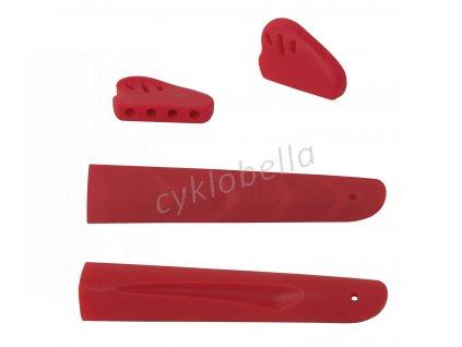 nosníky a gumičky nožiček brýlí,  červené