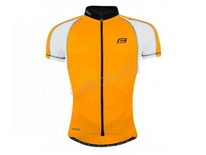 dres FORCE T10 krátký rukáv, oranžovo-bílý XL