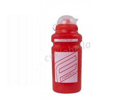 """láhev FORCE """"F"""" 0,5 l, červená/bílý potisk"""