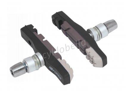 gumičky brzd F jednorázové, črn-šedé balené 70mm