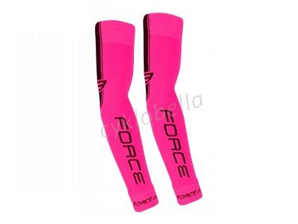 návleky na ruce FORCE pletené, růžové S - M