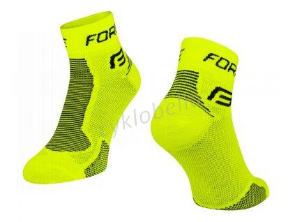 ponožky FORCE 1, fluo-černé XS/30-35