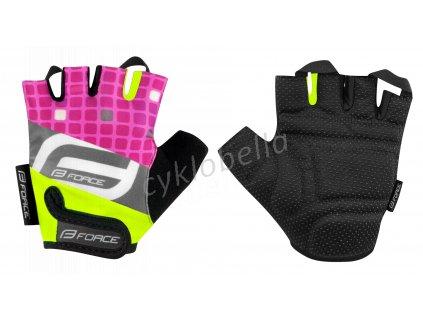 rukavice F SQUARE dětské, fluo-růžové L