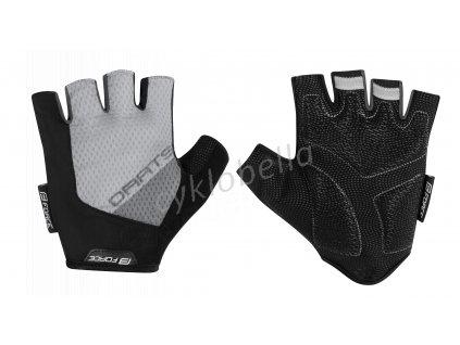 rukavice F DARTS gel bez zapínání, šedé L