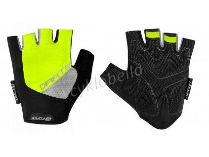 rukavice F DARTS gel bez zapínání,fluo-šedé L
