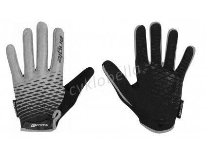 rukavice FORCE MTB ANGLE letní, šedo-černé XS
