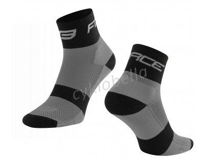 ponožky FORCE SPORT 3, šedo-čené S-M/36-41