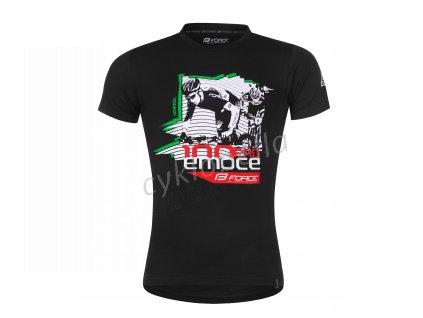 triko FORCE DRÁSAL krátký rukáv,černé XXL