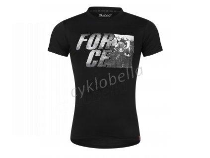 triko FORCE SPIRIT krátký rukáv,černé L