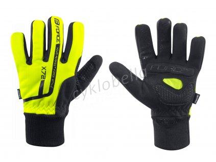 rukavice zimní FORCE KID X72, fluo XL