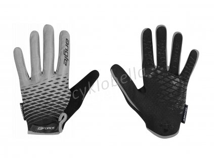 rukavice FORCE KID MTB ANGLE letní, šedo-černé L