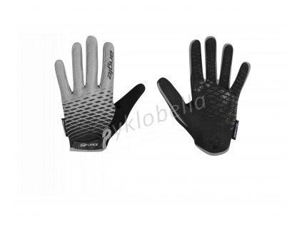 rukavice FORCE KID MTB ANGLE letní, šedo-černé XL