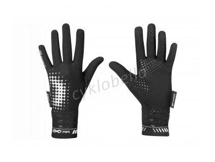 rukavice FORCE KID EXTRA, jaro-podzim, černé L