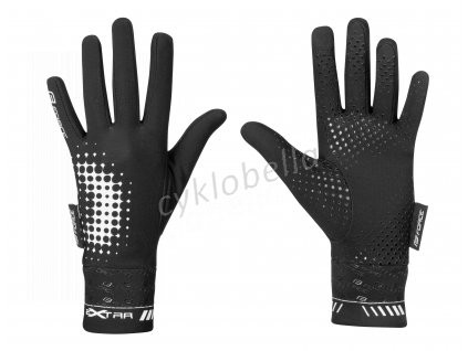 rukavice FORCE KID EXTRA, jaro-podzim, černé M