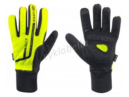 rukavice zimní FORCE X72, fluo 3XL