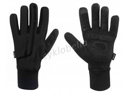 rukavice zimní FORCE X72, černé 3XL