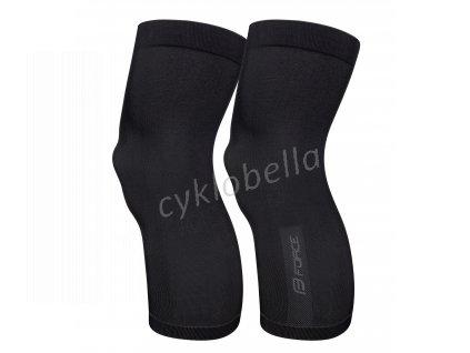 návleky na kolena F BREEZE pletené, černé XS-S