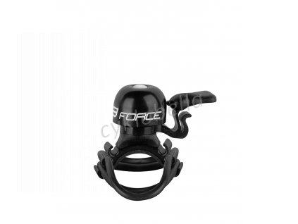zvonek FORCE CHICK mosaz/plast 19,2-31,8mm, černý