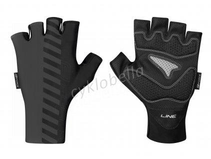 rukavice FORCE LINE bez zapínání, šedo-černé XXL