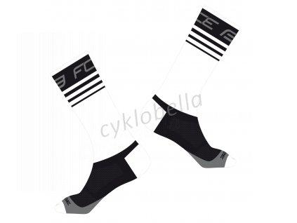 ponožky FORCE STAGE, bílo-černé L-XL/42-46