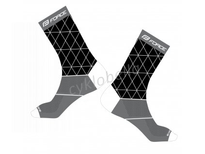 ponožky FORCE EVOKE, černo-šedé S-M/36-41