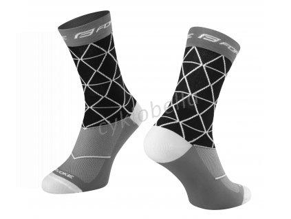 ponožky FORCE EVOKE, černo-šedé L-XL/42-46