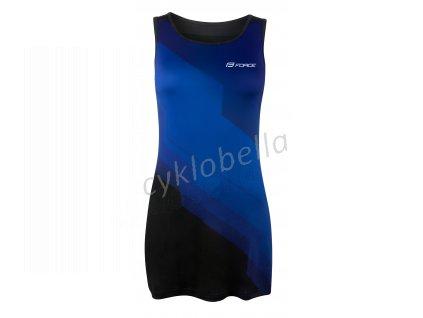 šaty sportovní FORCE ABBY, modro-černé M