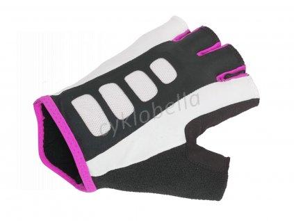 Rukavice Lady Sport Gel X6 k/p L (bílá/růžová/černá)