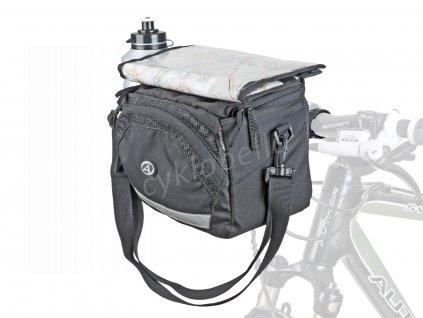 Brašna na řidítka A-H735 QRA X7 d.25,4/ d.31,8mm (černá)