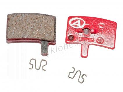 Brzdové destičky ABS-45 Hayes Stroker Trial  (červená)