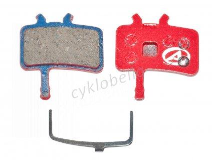 Brzdové destičky ABS-61 Avid Juicy  (červená)