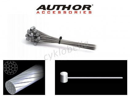 Lanko brzdové ABS-Lb-Mtb 1,5x1500mm (30ks v bal)  (stříbrná)