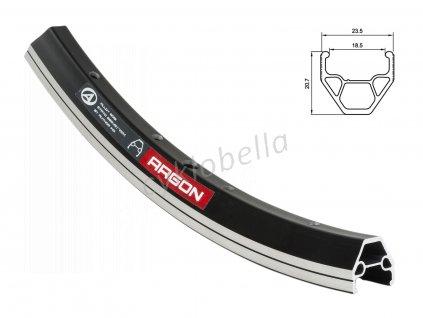 Ráfek ACO Argon X7 CNC  559x19/ 32 (černá)