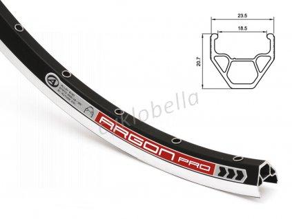 Ráfek ACO Argon Pro X7 CNC 559x19/ 32 (černá)