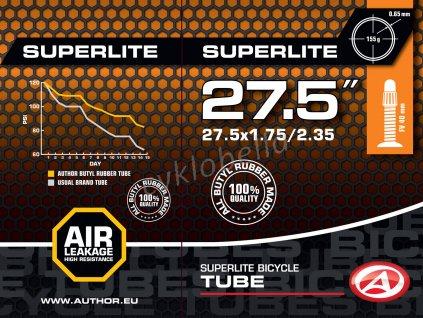 "Duše AT-MTB-27,5"" SuperLite FV40 27.5x1.75/2.35 (černá)"