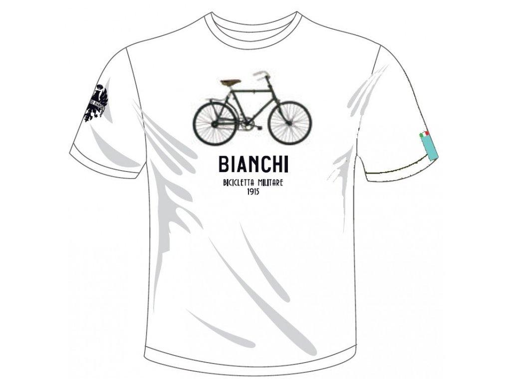 Bianchi T-Shirt - Military Bike bílé
