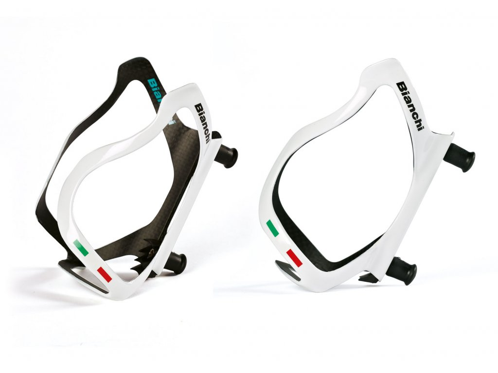 Košík Bianchi carbon - bílá