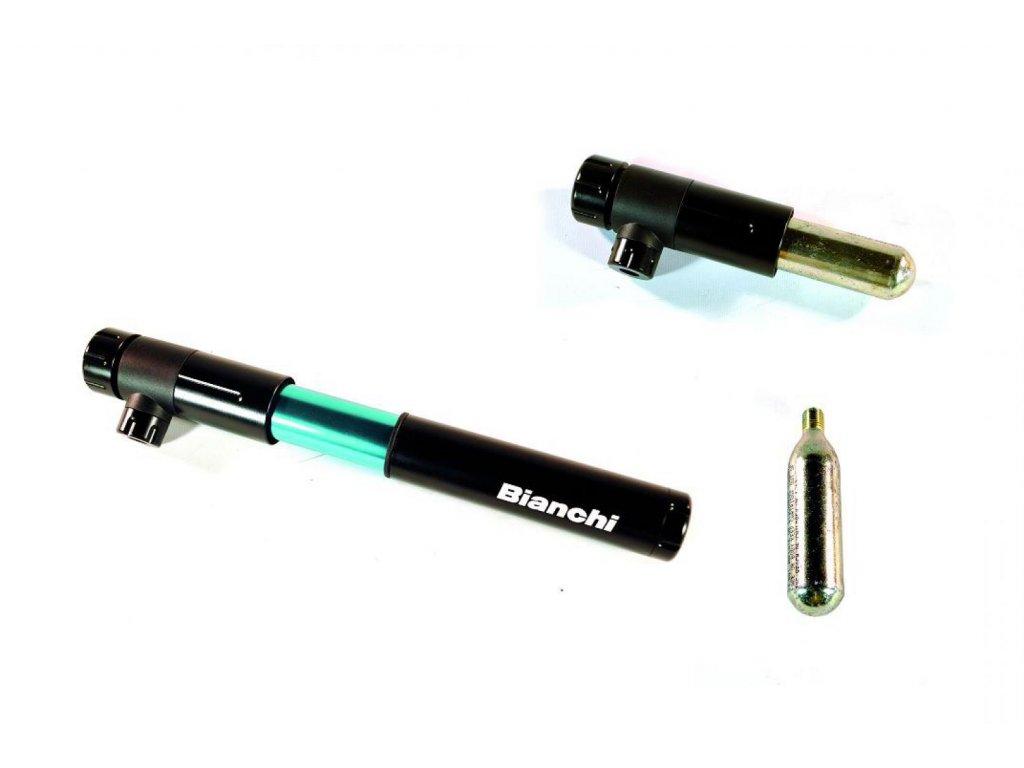 Pumpa CO2 komb s mini MTB černá