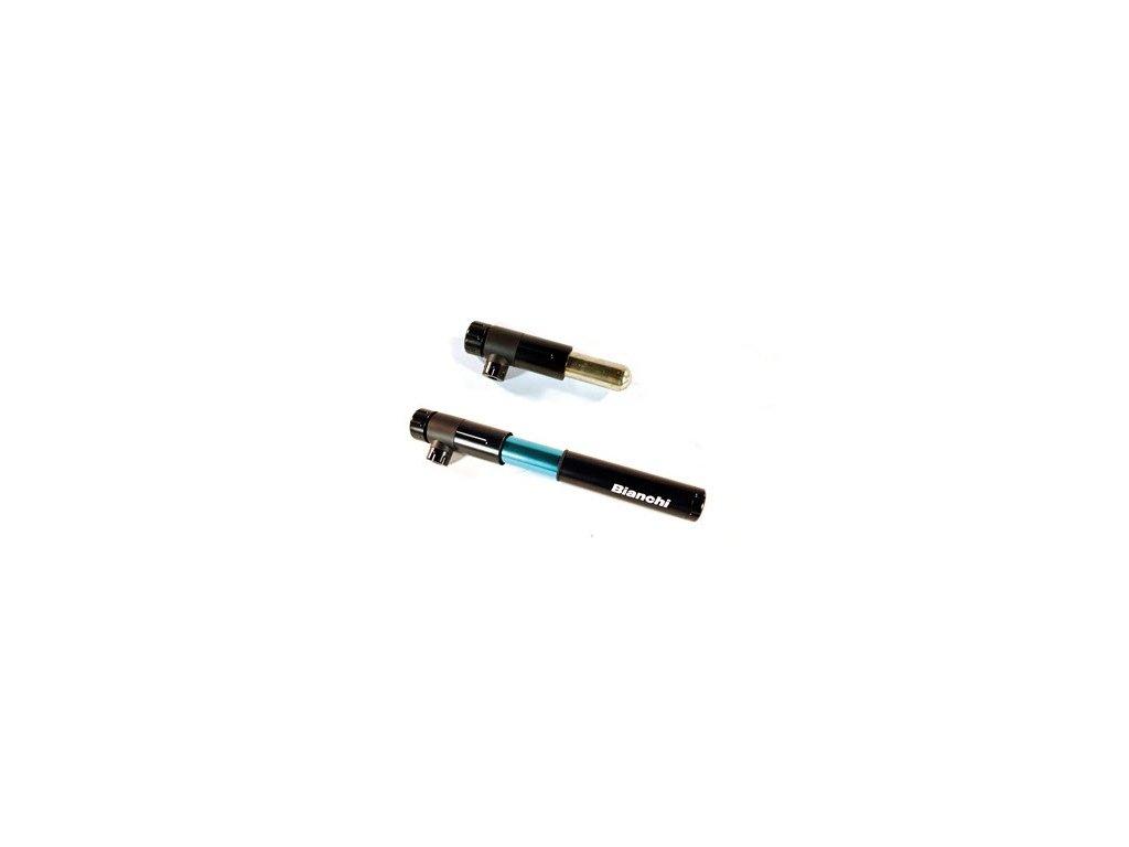 BIANCHI Pumpa CO2 komb s mini ROAD černá