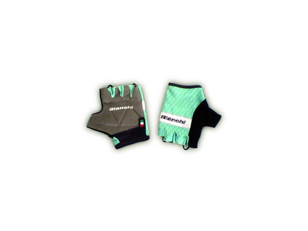 Bianchi Team Carbon Celeste Summer rukavice
