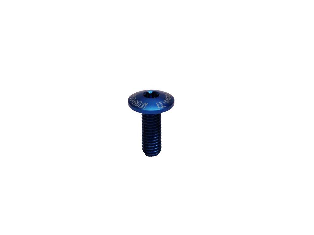 Šroub CARBON  M5 14mm - blue - 1ks