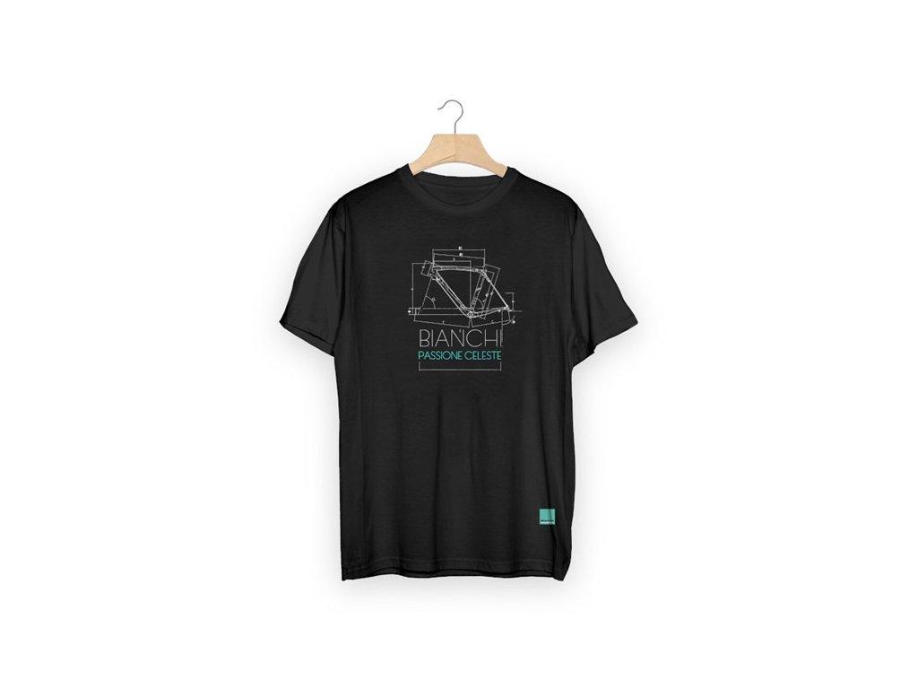 Bianchi SKETCH triko černé